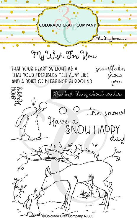 AJ385 Anita Jeram~Snow Happy