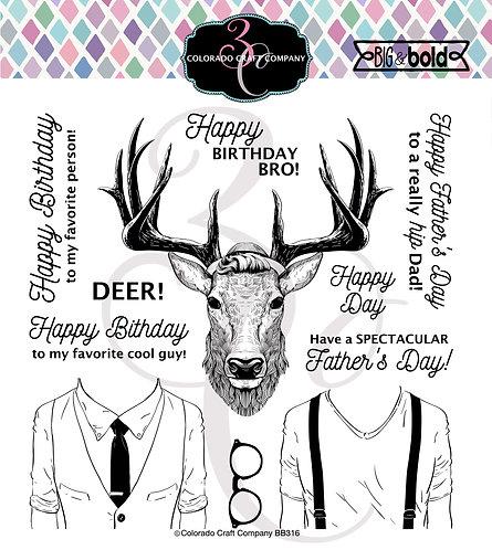 BB316 Big & Bold~Hipster Deer