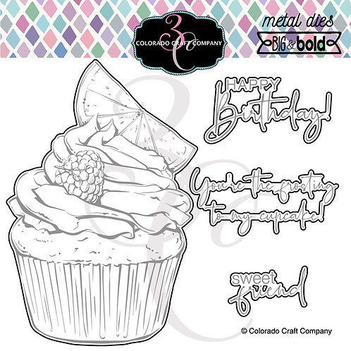 BB438-D Big & Bold~Citrus Berry Cupcake Dies