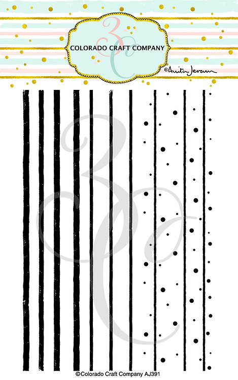 AJ391 Anita Jeram~Stripes & Dots Background