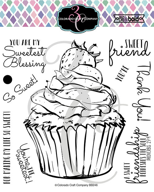 BB246 Big & Bold~Sweetest Friend Cupcake