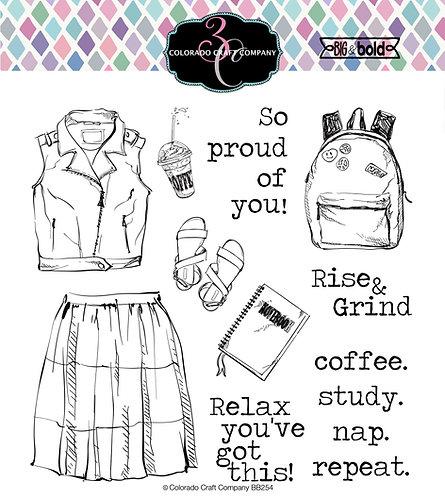 BB254 Big & Bold~Coffee. Study. Nap