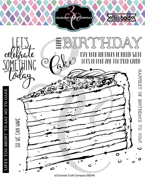 BB248 Big & Bold~Birthday Cake