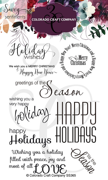 SS365 Savvy Sentiments~Holiday Wishes