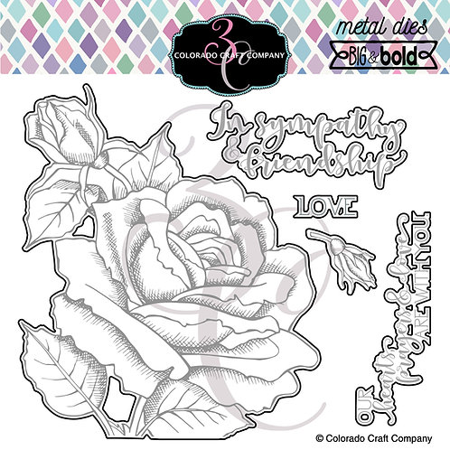 BB353-D Big & Bold Sympathy & Friendship Rose DIES