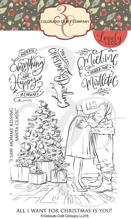 LL276 Lovely Legs~I Saw Mommy Kissing Santa