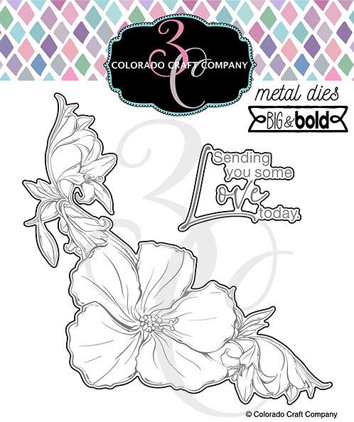 BB540-D Big & Bold ~ Hibiscus Love Dies