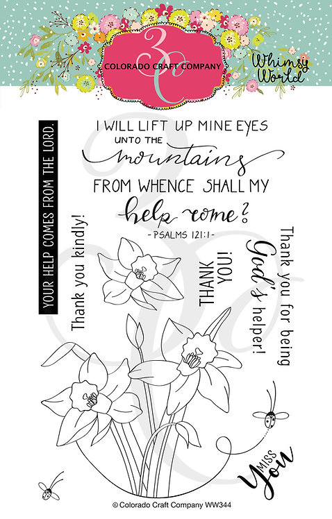 WW344 Whimsy World~Lift My Eyes Daffodils