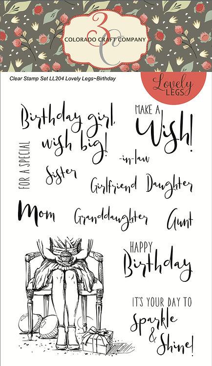 LL204 Lovely Legs~Happy Birthday