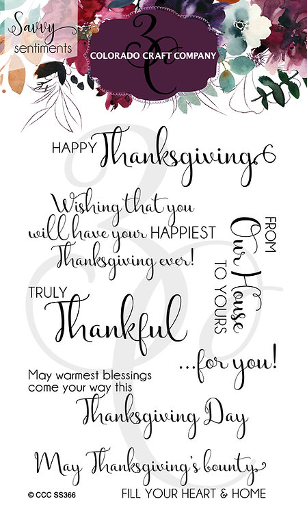 SS366 Savvy Sentiments~Truly Thankful