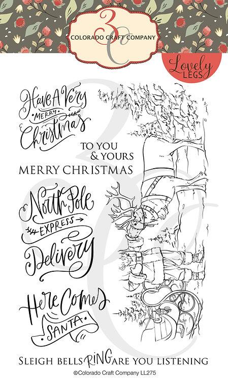 LL275 Lovely Legs~Santa & Rudolph