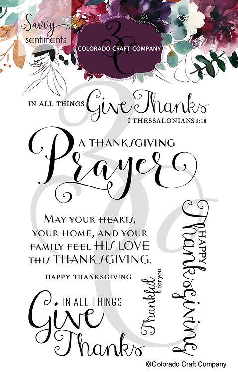 SS571 Savvy Sentiments ~ Thanksgiving Prayer