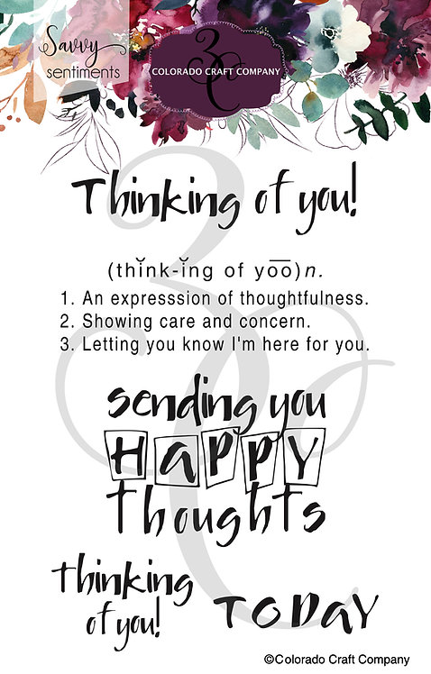 SS517 Savvy Sentiments ~ Thinking of You