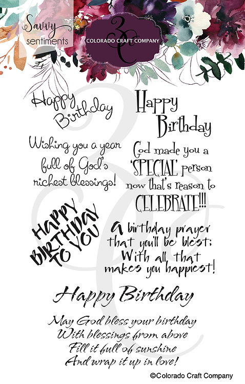 SS516 Savvy Sentiments ~Birthday Blessings