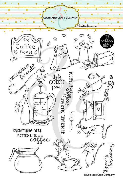 AJ483 Anita Jeram ~ Coffee House