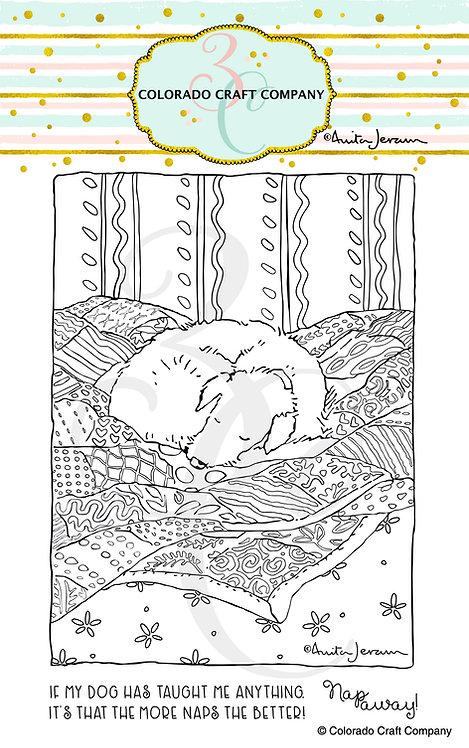 AJ409 Anita Jeram~Puppy's Quilt