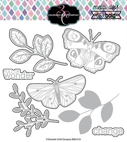 BB313-D Big & Bold~Blissful Butterflies Die Set