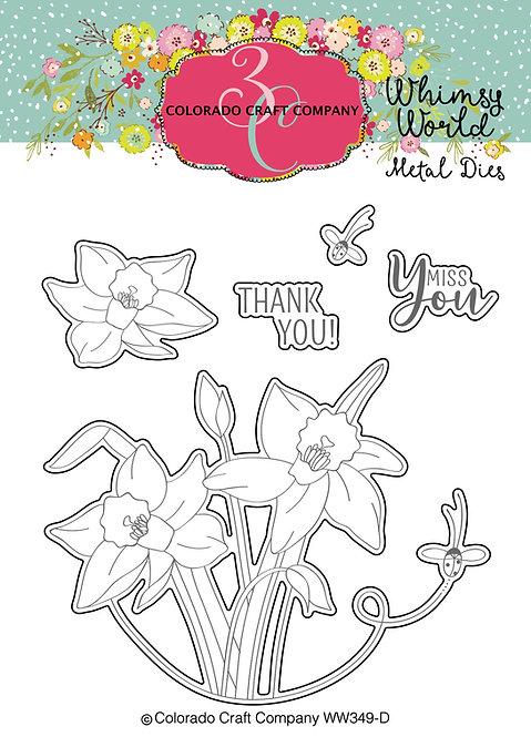 WW349-D Lift My Eyes Daffodils-Dies