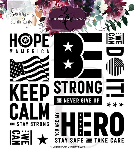 SS308 Savvy Sentiments~America Strong