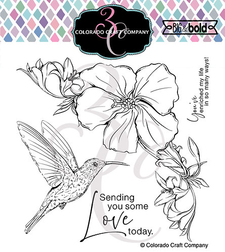 BB509 Big & Bold ~ Hibiscus Hummingbird