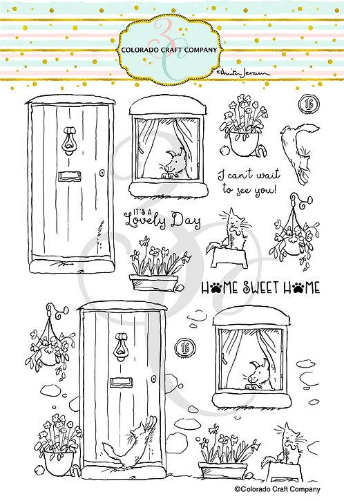 AJ487 Anita Jeram~Home Sweet Home