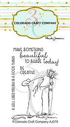 AJ379 Anita Jeram~Be Creative Mini Stamps