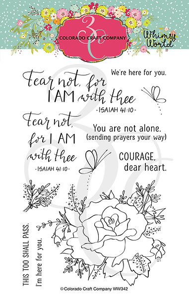 Colorado Craft Co Whimsy World - Fear Not Rose