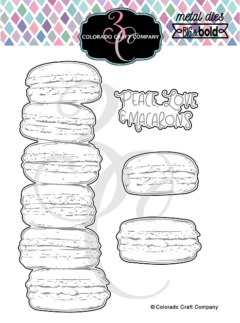 BB439-D Big & Bold~Slimline Macarons Dies
