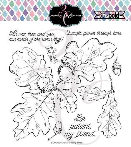 BB263 Big & Bold~Oak Leaves & Acorns
