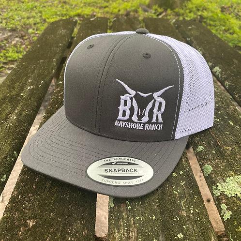 BR Hat - Gray & White