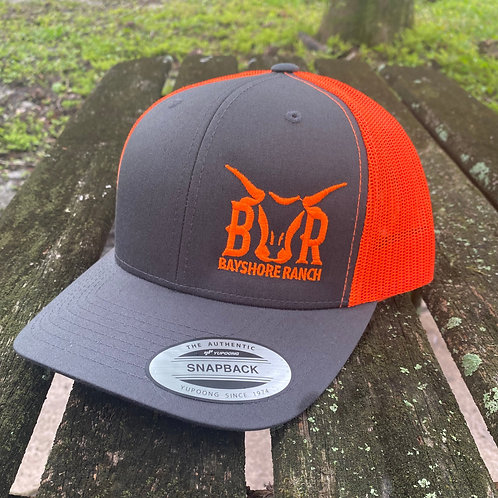 BR Hat - Gray & Orange
