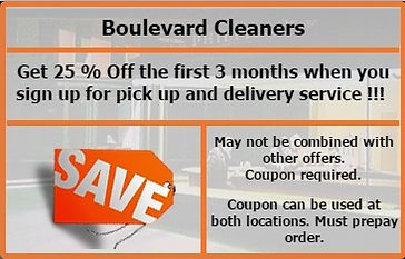 Receive 25 %  Off First 3 Months When You Sign up For Pick Up And Delivery Service
