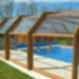 Cobertura para Piscina, cobertura retrátil para piscina, cobertura de policarbonato para piscina