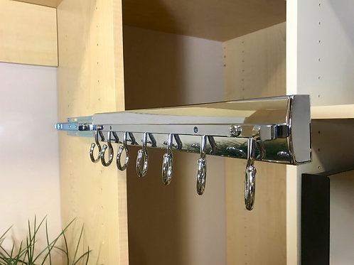 Elite Full Ext Soft Close Scarf Rack14 Satin Nickel
