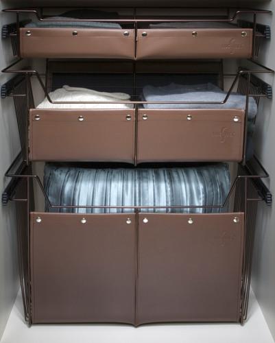 Closetwear 174 Basket Wrap 11h X 18w X 14d Brown Sidelines Inc