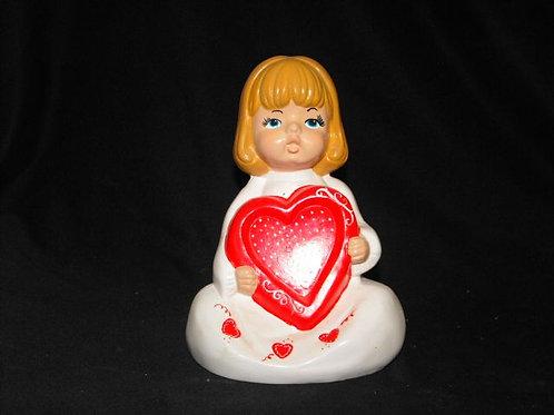 Pretty Girl holding heart