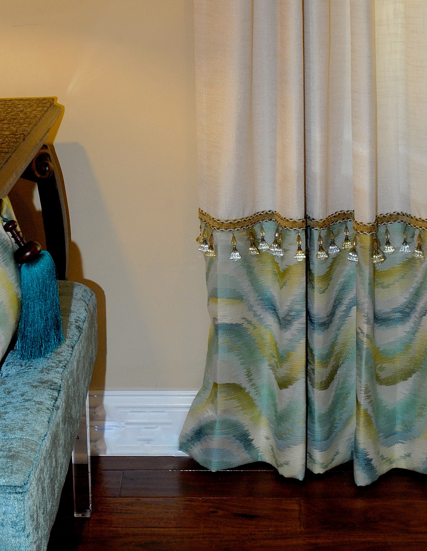 Custom Window Treatments and Pillows