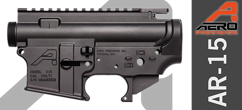 Aero Precision AR15Stripped Receiver Set - Anodized Black