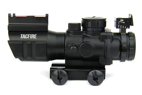 4X32 PRISMATIC TRI-ILL. SCOPE WITH RED FIBER OPTIC FRONT SIGHT/BACK-UP IRON SIGH