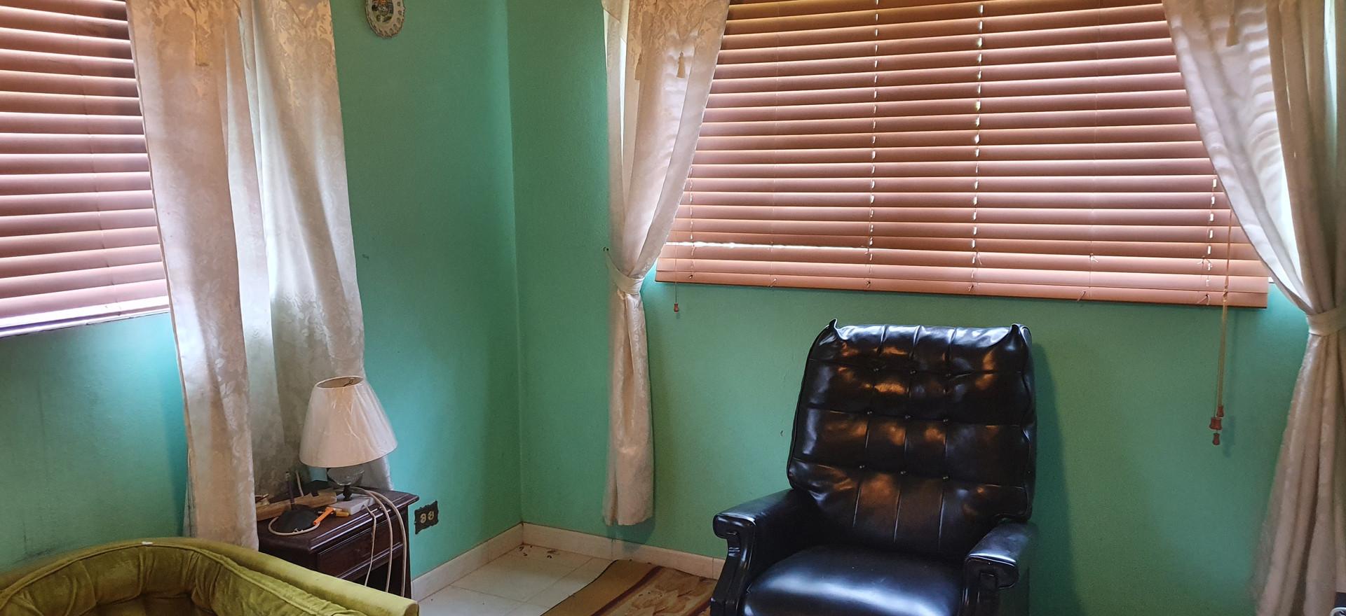 Bedroom used as sitting room