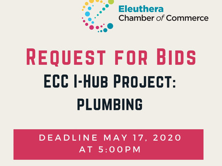 Request for Bids - Installation of Plumbing
