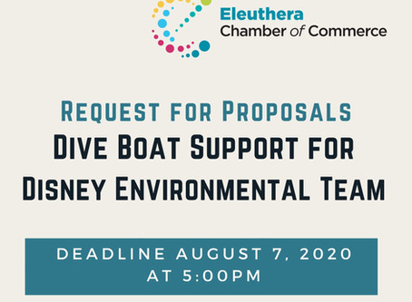 Disney RFP for Dive Boat Support