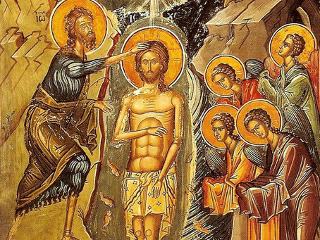 On Theophany the Trinity is Revealed!