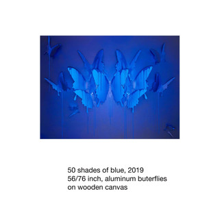 50 shades of blue, 2019 56-76inch low re