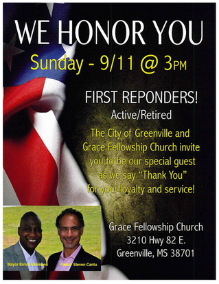 GREENVILLE TO HONOR FIRST RESPONDERS