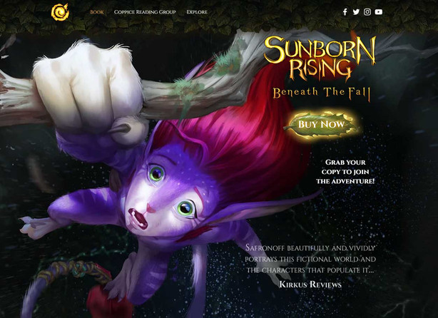 Sunborn Rising Book Page