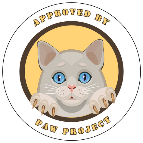 Sticker for retail for Paw Project