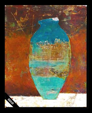 Vase in Aqua