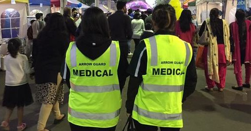 Medical First Aid Staff for Diwali Festival at Sandown Race Course