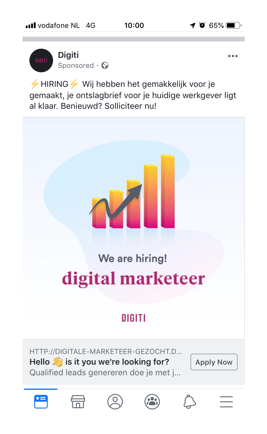 Remarketing Facebook Job Post Digiti